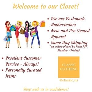 Welcome to our Closet on Poshmark!